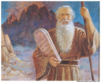 Image result for Moses Ascent on Mt Sinai 10 commandments