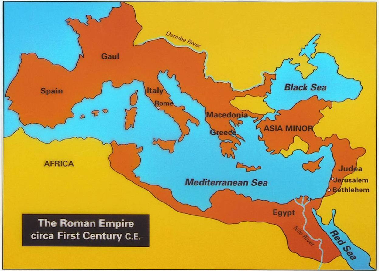 Romans DWELLING In The Word - Rome map cartoon