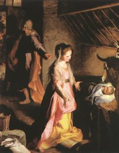 """The Nativity""  by Federico Fiori Barocci, 1597 (Del Prado, Madrid)"