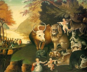 """The Peaceable Kingdom""  by Edward Hicks, 1826 (National Gallery of Art, Washington, D.C.)"
