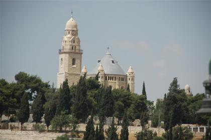 Dormition Abbey on Mount Zion in Jerusalem