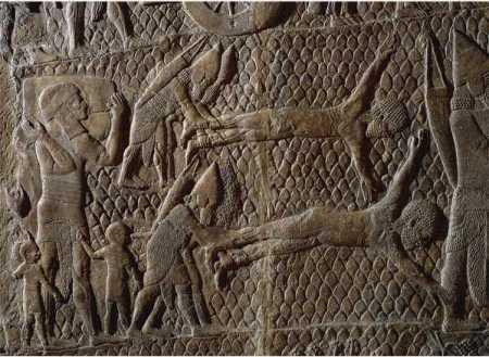 detail of Lachish reliefs