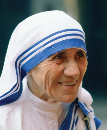 Mother Teresa wore a sari that cost $1 but clothed herself with good deeds done in Jesus' name.