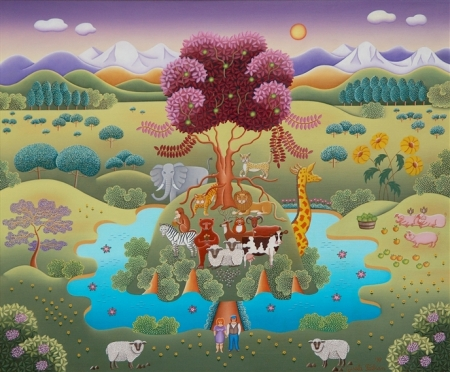 """Peaceable Kingdom""  by Gisela Fabian, 1998."