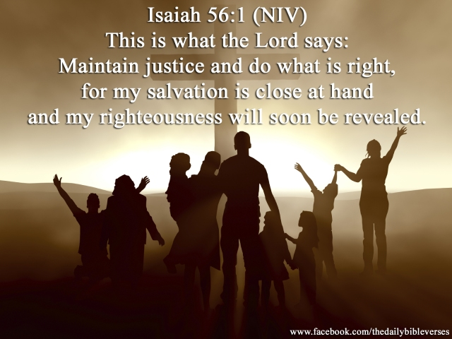 Image result for Isaiah 56:1 KJV