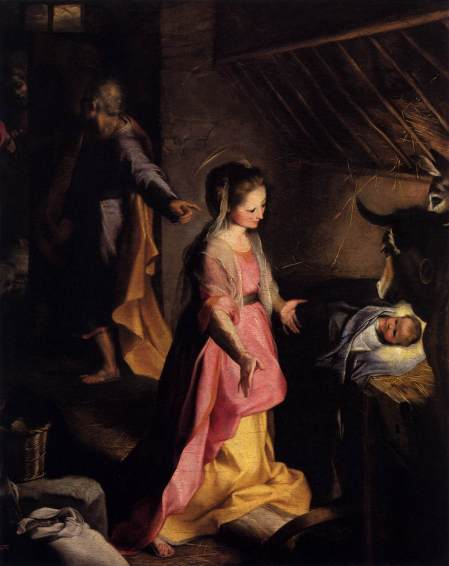 """The Nativity"" by Federico Fiori Barocci, 1597 (Museo del Prado, Madrid)"