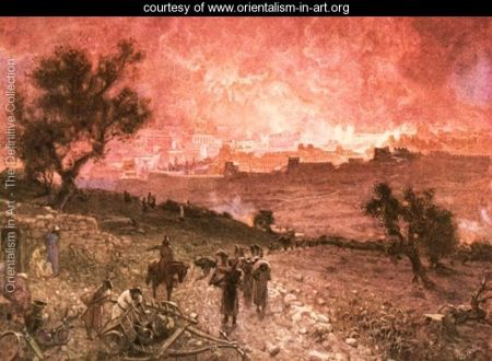 """The Desctruction of Jerusalem by Nebuchadnezzar"" by William Brassey Hole"