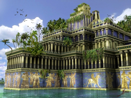 """How the mighty have fallen!"" Babylon and its Wonder of the World Hanging Gardens -- to be destroyed."