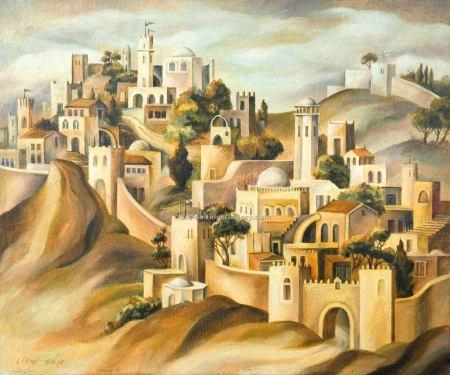 """The Walls of Jerusalem"" by Israeli artist Dan Livni"