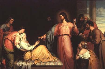 """Christ healing the mother-in-law of Simon Peter"" by John Bridges"