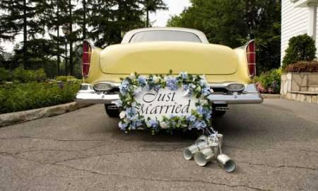 Mk10 just-married-car
