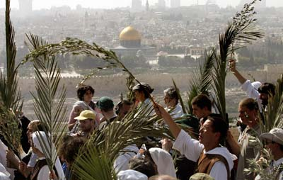 Pilgrims from around the world come to modern-day Jerusalem to celebrate Palm Sunday. They wend their way down the Mount of Olives, across the Kidron Valley, and through the streets of the city to the Church of the Holy Sepulcher.