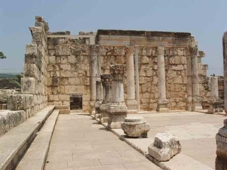 The main attraction at Capernaum is the synagogue.  The limestone remains of the synagogue are most likely dated to the fourth century AD, and are built on the remains of a first century AD synagogue made of basalt.  The first century synagogue would have been in existence at the time of Christ.