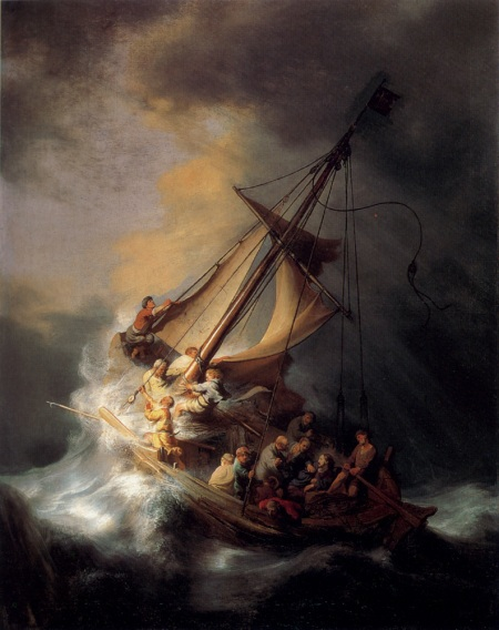 """Christ in the Storm on the Sea of Galilee"" by Rembrandt, 1633"