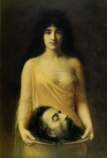 """""""Salome (with the head of John the Baptist)"""" by Jean Benner, 1899"""