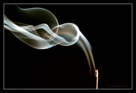 Burning incense -- an aroma pleasing to the Lord.  Incense was a Jewish picture of prayer.