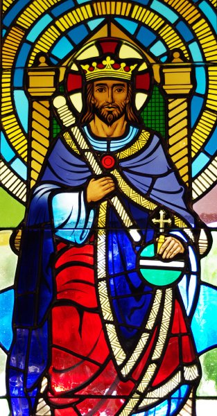 stained glass window from Christ the King Lutheran Church, Redlands, Calfiornia