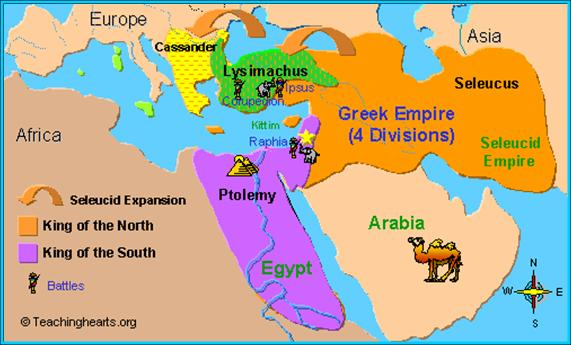 Image result for map of the final seleucid empire and ptolemaic empire