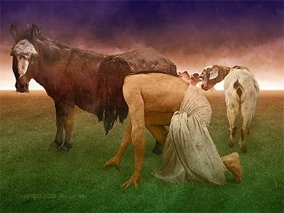 Nebuchadnezzar's Exile.  digital art by Ted Larson.