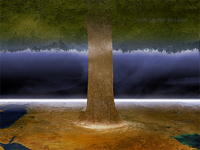 Dream of the Great Tree.  digital art by Ted Larson.