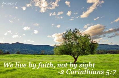 2Cor5 live by faith