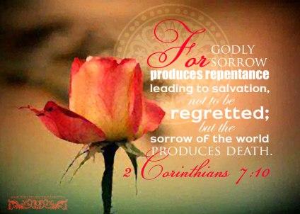 2Cor7 godly sorrow