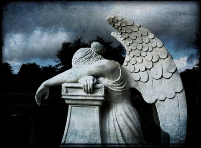 Job14 cemetery angel