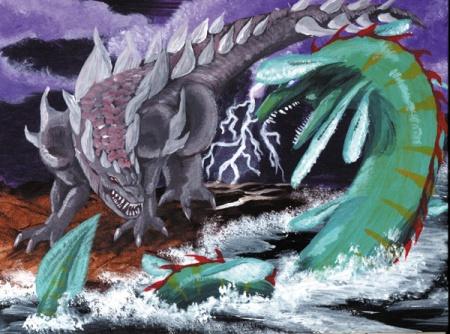 """Behemoth versus Leviathan"" by M. J. Tannacore"