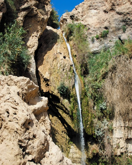 David's Spring and Cave in Ein Gedi National Park, Israel.