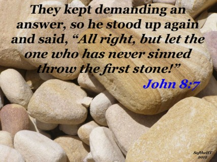 John8 first stone