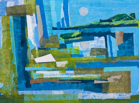 Virginia Wieringa: Shore Stations ( Psalm 148) Acrylic and Tissue Paper Collage, 2010.
