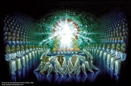 """The Emerald Throne Scene in Heaven,"" by Pat Marvenko Smith"