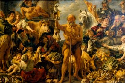 Jacob Jordaens, Diogenes Searching For An Honest Man, ca. 1642  (Gemaldgalerie Alte Meister, Dresden)