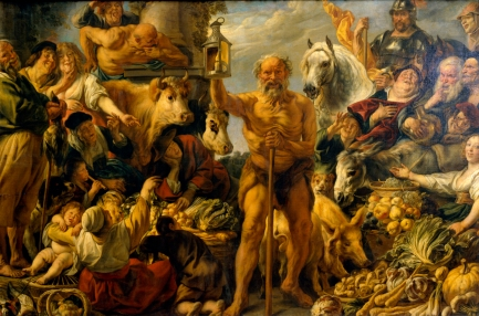 Jacob Jordaens, Diogenes Searching For An Honest Man, ca. 1642 (Gemaldgalerie Alte Meister, Dresden)