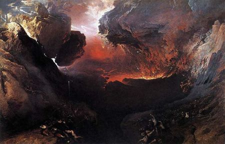"""The Great Day of His Wrath,"" by John Martin, 1853 (Tate Britain, London)"