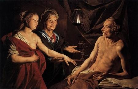 """Sarah Leading Hagar to Abraham"" by Matthias Stom, 1639 (Gemäldegalerie, Berlin)"