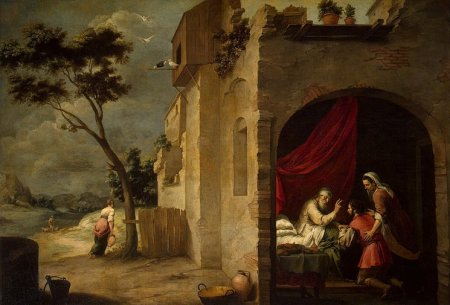"""""""Isaac Blessing Jacob"""" by Bartolome Esteban Murillo, 1660 (The State Hermitage Museum, St. Petersburg, Russia)"""