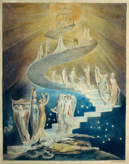 """Jacob's Ladder""  by William Blake, 1806."