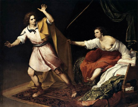 """Joseph and Potiphar's Wife""  by Bartolome Esteban Murillo, around 1665"