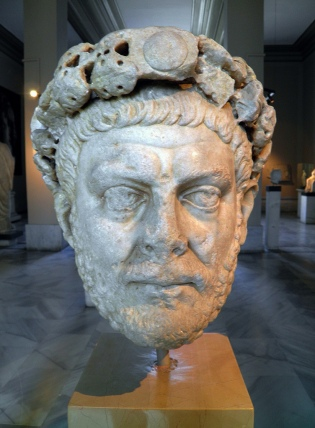 Head of the Roman emperor Diocletian, 284 - 305 CE (Istanbul Archaeology Museum).