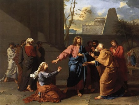"""Christ and the Canaanite Woman""  by Germain-Jean  Drouais, c.1784"