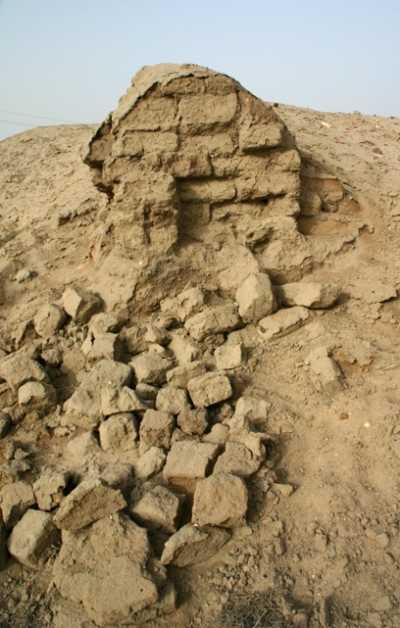 remains of mud bricks from Tell el-Maskhuta (Succoth) in Egypt