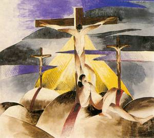 """Crucifix"" by Gizella Domotor, 1925 (Hungarian National Gallery, Budapest)"