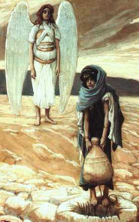 """Hagar and the Angel in the Desert,"" by James Tissot, 1896 (The Jewish Museum, New York)"