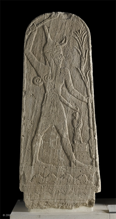 Stele depicting Baal (The Louvre)