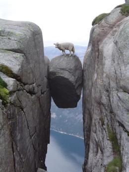 Deu32 Majestic-Hanging-Stone-Norway