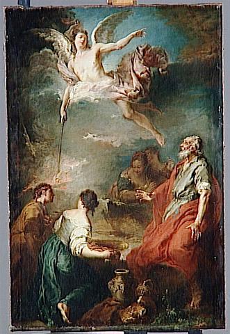 """""""The Sacrifice of Gideon"""" by Francois Bouchert, 1728 (The Louvre, Paris)"""