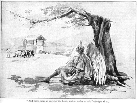 """And there came an angel of the Lord, and sat under the oak"" by James Shaw Crompton"