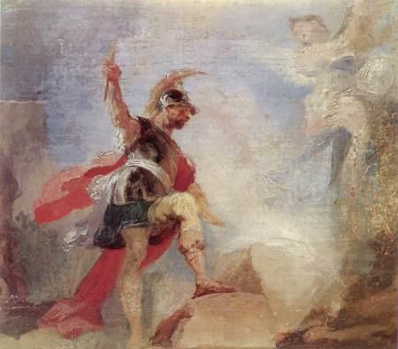 """Gideon (sketch)"" by Anton Franz Maulbertsch, 1794 (Episcopal Palace, Szombathely, Hungary)"