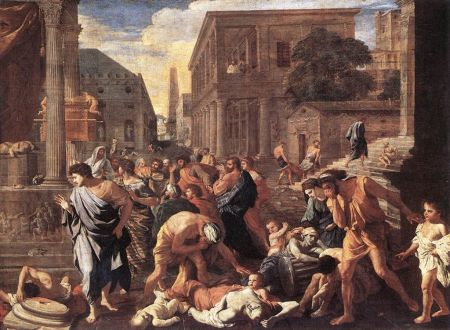 """Nicolas Poussin. """"The Plague of Ashdod,"""" 1631. (The Louvre, Paris, France)"""